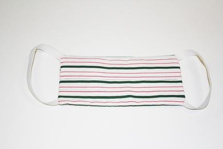 Adult facemask, GREEN STRIPE